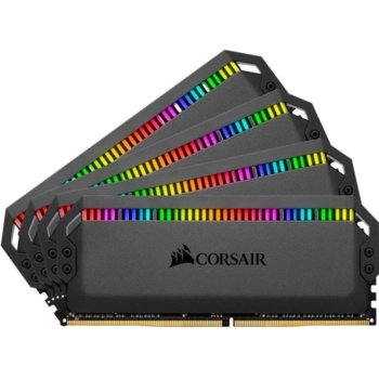 Памет 32GB (4x8GB) DDR4 3200MHz, Corsair Dominator Platinum RGB, CMT32GX4M4C3200C16, 1.35V, RGB image