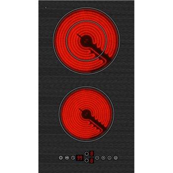 Плот за вграждане Arielli AE-322BE, 2 нагревателни зони, индикатор за остатъчна топлина, сензорно управление, черен image