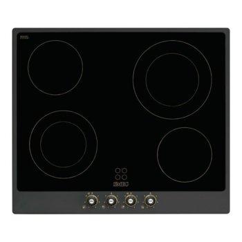 Стъклокерамичен плот за вграждане SMEG P764AO, 4 нагревателни зони Hi-Light, 9 регулирани нива на мощност, черен image