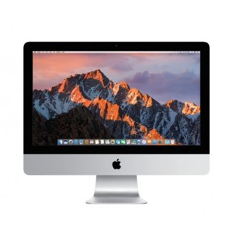 "All in One компютър Apple iMac (MMQA2ZE/A), 21.5"" (54.61) Full HD LED дисплей, двуядрен Intel Kaby Lake Core i5-7360U 2.3GHz/3.6GHz, Intel Iris Plus Graphics 640, 8GB DDR4, 1TB HDD, 4 x USB 3.0, безжична клавиатура и мишка, macOS Sierra image"
