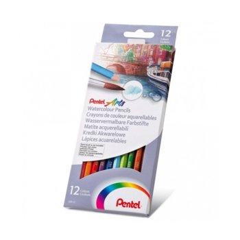 Цветни моливи акварел Pentel Arts, 12 цвята image
