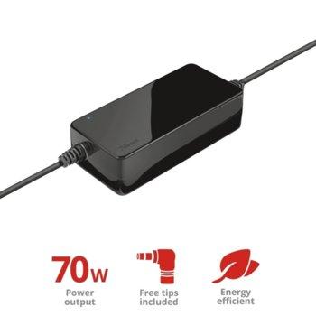 Захранване (заместител) универсално, Trust Primo Laptop Charger, 19V/3.6A, 70W, 1.8 m. image