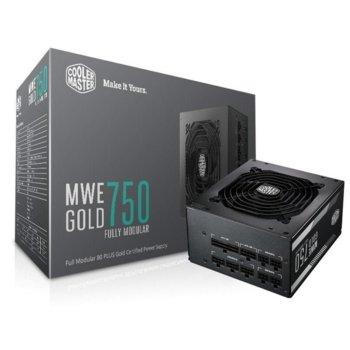 Захранване Cooler Master MWE GOLD 750 Fully Modular, 750W, Active PFC, 80 Plus Gold, 120mm вентилатор image
