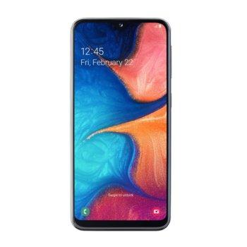 """Смартфон Samsung Galaxy A20e (черен), поддържа 2 sim карти, 5.8"""" (14.73 cm) HD+ Super AMOLED дисплей, осемядрен Exynos 7884 1.6 GHz, 3GB RAM, 32GB Flash памет (+microSD слот), 13.0 + 5.0 & 8.0 MPix камера, Android, 169 g image"""