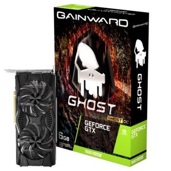 Видео карта nVidia GeForce GTX 1660 SUPER, 6GB, Gainward Ghost OC, PCI-E 3.0, GDDR6, 192-bit, DisplayPort, HDMI, DVI-D image