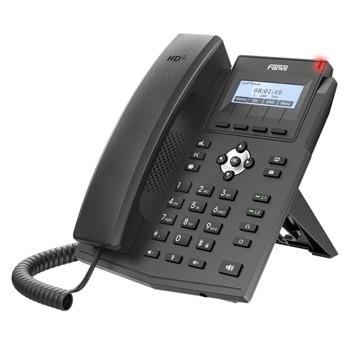 VoIP телефон Fanvil X1SP, 2 SIP акаунта, черно-бял 128x48 дисплей, 2x 10/100/1000 Mbps LAN порта, PoE, черен image