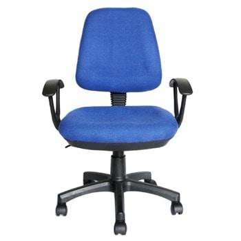 Работен стол RFG Work@Smart, до 120кг, дамаска, пластмасова база, коригиране височина, заключване в позиция, син image