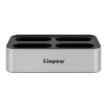 Докинг станция за четци на карти Kingston WFS-U, USB C, поддържа до 4x Kingston WFS-SD/WFS-SDC четци за карти, сив image