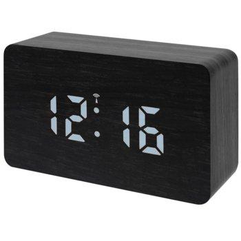 Часовник/будилник Bresser MyTime W Color, календар, аларма, часовник, термометър, цветен екран, светодиодно осветление, черен image
