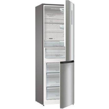 Хладилник с фризер Gorenje NRK6192AXL4, клас A++, 320 л. общ обем, свободностоящ, 240 kWh/годишно разход на енергия, NoFrost Plus, AdaptTech, EcoMode, инокс image