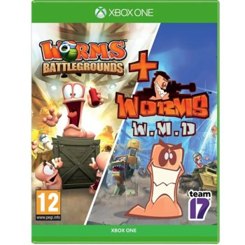 Игра за конзола Worms Battlegrounds + Worms WMD - Double Pack, за Xbox One image