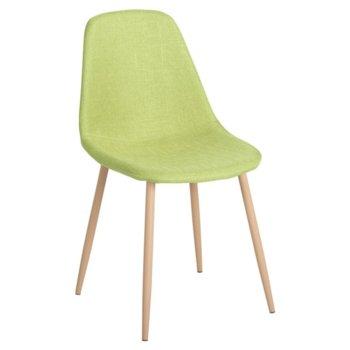 Трапезен стол Carmen 511 S, дамаска, зелен image