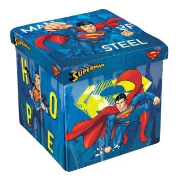Табуретка Disney Superman, 3 в 1, MDF и текстил, до 150 kg, синя image