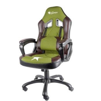 Геймърски стол Genesis Nitro 330 Military Limited Edition, газов амортисьор, до 120 kg, черен/зелен image