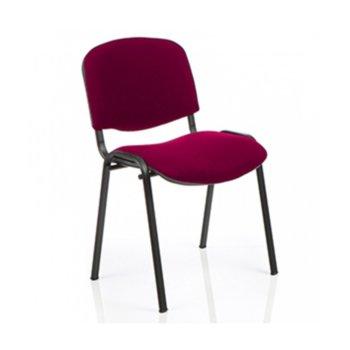 Посетителски стол Nowy Styl Iso C02, текстил, червен image