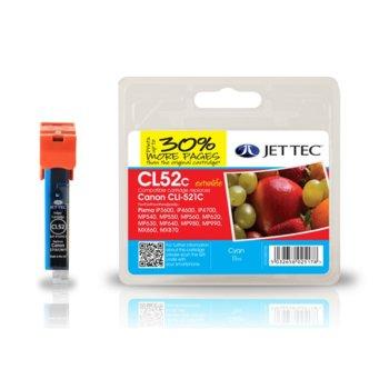 Глава за Canon CLI-521 - Cyan - Неоригинална - С чип - Jet Tec - Заб.: 11 ml image