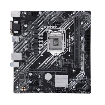 Дънна платка Asus PRIME B460M-K, B460, LGA1200, PCI-E 3.0 (D-Sub&DVI-D), 6x SATA3, 1x M.2, 4x USB 3.2 Gen 1, mATX image