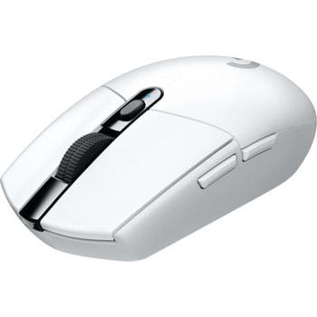 Мишка Logitech G305, оптична (12 000 dpi), безжична, USB, бяла, 6 програмируеми бутона image