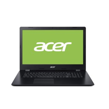 "Лаптоп Acer Aspire 3 A317-32-P61D (NX.HF2EX.00K), четириядрен Gemini Lake Refresh Intel Pentium N5030 1.1/3.1 GHz, 17.3"" (43.94 cm) HD Glare Display, (HDMI), 4GB DDR4, 256GB SSD, 1x USB 3.1, Linux image"