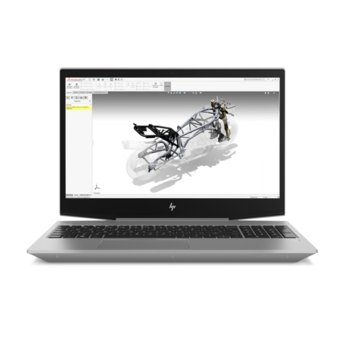 "Лаптоп HP ZBook 15v G5 (2ZC56EA)(сив), шестядрен Coffee Lake Intel Core i7-8750H 2.2/4.1 GHz, 15.6"" (39.62 cm) Full HD Anti-glare Display & Quadro P600 4GB, (HDMI), 16GB DDR4, 256GB SSD, 1x USB Type C, Windows 10 Pro, 2.14 kg image"