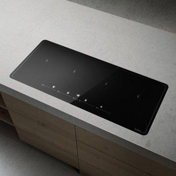 Индукционен плот за вграждане ELICA Lien Diamond 874 BL, 7.4kW, 4 нагревателни зони, 9 степени на мощност + Chef cook, сензорно управление, черен image