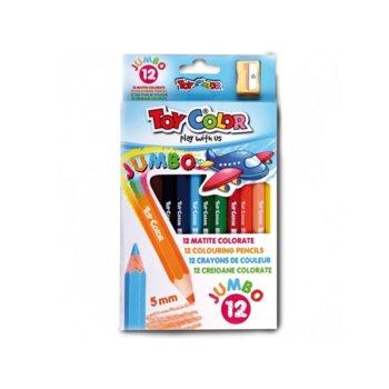 Цветни моливи Toy Color Jumbo, 12 броя, 5.0 mm image