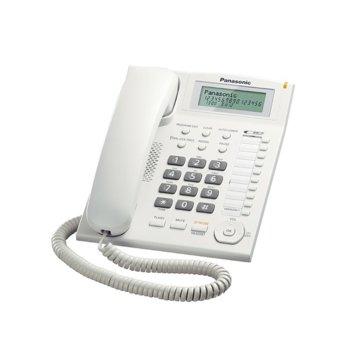 Стационарен телефон Panasonic TS 880FX, LCD черно-бял дисплей, бял image