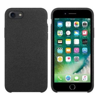 Калъф за Apple iPhone 7/8, силиконов гръб, силикон и текстил, сив image