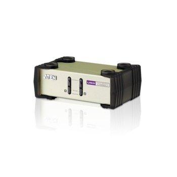KVM суич ATEN CS82U, от 2x USB A(ж), 2x PS/2(Mini-DIN)(ж), 1x HDB-15(VGA)(ж) към 2x SPHD-18(ж), 2x бутона за селекция, 1 устройство image