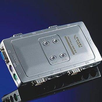 KVM суич ROLINE 14.99.3294, от 1x VGA(ж), 2x PS/2(ж) към 4x VGA(ж), 8x PS/2(ж), 1 устройство image