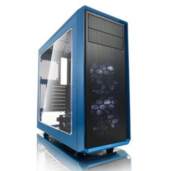 Кутия Fractal Design Focus G, ATX/mATX/ITX, USB 3.0, прозорец, синя, без захранване image