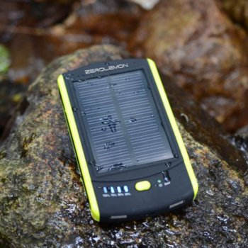 Външна батерия /power bank/ ZeroLemon 6000 mAh, черен, със соларен панел image