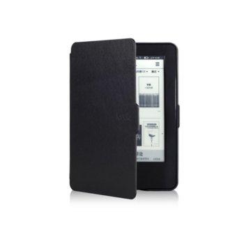 Калъф за електронна книга Kindle Paperwhite, черен, + подарък протектор за екран и stylus pen image