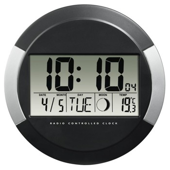 Часовник Hama PP-245, дигитално указание, стенен, календар, термометър, черен image