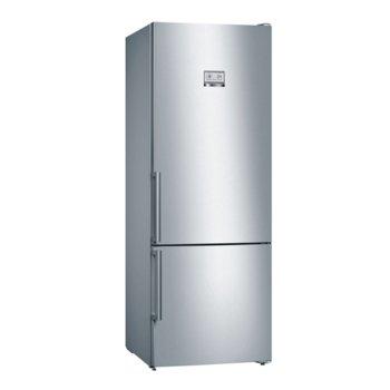 Хладилник с фризер Bosch KGN56HI3P, клас A++, 505 л. общ обем, свободностоящ, 325 kWh/годишно, NoFrost, VitaFresh чекмедже, инокс image