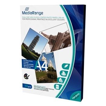 Фотохартия MEDIARANGE GLOSSY, A4, гланцирана, 160g/m2, 50 листа image