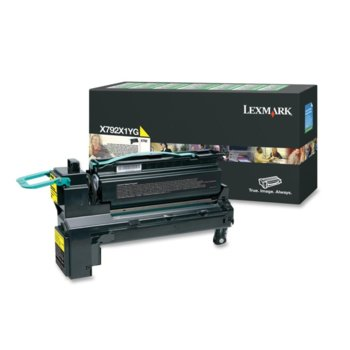 Laser Toner Lexmark for X792 - Yellow 20 000 pages product