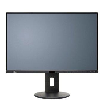 "Монитор Fujitsu P24-8 WS Neo, EU, (S26361-K1647-V160) 24"" (60.96 cm) IPS панел, WUXGA, 5ms, 20,000,000:1, 300 cd/m2, 2x DisplayPort, HDMI, DVI, USB  image"