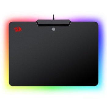 Подложка за мишка Redragon Epeius P009-BK, сензор за пръстов отпечатък, RGB подсветка, гейминг, черна, 358 x 265 x 11 image