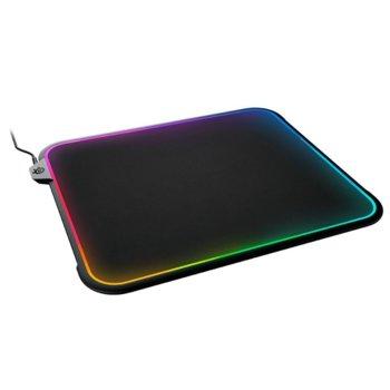Подложка за мишка SteelSeries QcK Prism, гейминг, черна, 356.7 x 292.4 x 8.68мм image