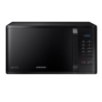 Микровълнова фурна Samsung MS23K3513AK/OL, електронно управление, 800 W, 23 л. обем, 6 степени на мощност, черна image