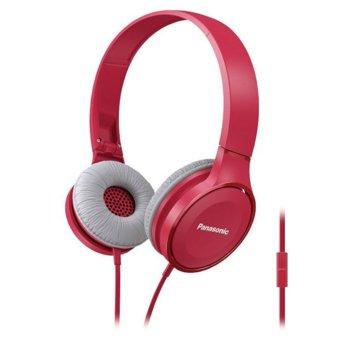 Слушалки Panasonic RP-HF100ME, микрофон, розови image