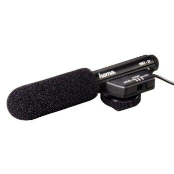 Микрофон HAMA RMZ-16, с насочване, алуминиев, 3.5mm, черен image