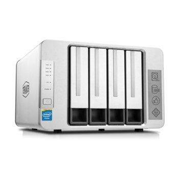 Мрежови диск (NAS) TerraMaster F4-220 (F4-220/2X6TB), двуядрен Intel Celeron J1800 2.41GHz/2.58GHz, 2 GB RAM, 2x 6TB Seagate NAS HDD, 1x RJ-45, USB 3.0, USB 2.0, Tower image