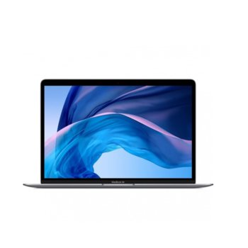 "Лаптоп Apple MacBook Air 13 (MVFH2ZE/A)(сив), двуядрен Amber Lake Y Intel Core i5-8210Y 1.6/3.6 GHz, 13.3"" (33.78 cm) Retina IPS LED-backlit Display, (Thunderbolt), 8GB, 128GB SSD, macOS Mojave, 1.25 kg image"