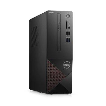 Настолен компютър Dell Vostro 3681 SFF (N509VD3681EMEA01_2101_KBM), шестядрен Comet Lake Intel Core i5-10400 2.9/4.3 GHz, 8GB DDR4, 512GB SSD, 4x USB 3.2, клавиатура и мишка, Windows 10 Pro image