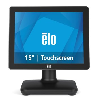 "Тъч компютър Elo E932090 EPS15S5-2UWB-1-MT-8G-1S-NO-00-BK, шестядрен Coffee Lake Intel Core i5-8500T 2.1/3.5 GHz, 15"" (38.1 cm) HD Anti-Glare Touchscreen Display, 8GB DDR4, 128GB SSD, 3x USB 3.0, No OS image"