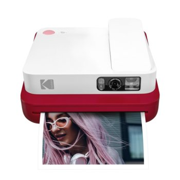 Мобилен принтер Kodak Smile Classic Red RODCLASRD, цветен термичен фотопринтер, micro SD слот, Bluetooth, червен image