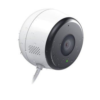 "IP камера D-Link DCS-8600LH/E, насочена ""bullet"" камера, 2MP (1920x1080), 3.3 mm обектив, H.264, MJPEG, JPEG, IR осветеност (до 7 метра), аудио, външна, Wi-Fi, RJ-45, MicroSD, безжична image"