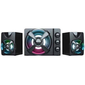 Тонколони Trust Ziva RGB, 2.1, 22W RMS, USB, AUX, черни image
